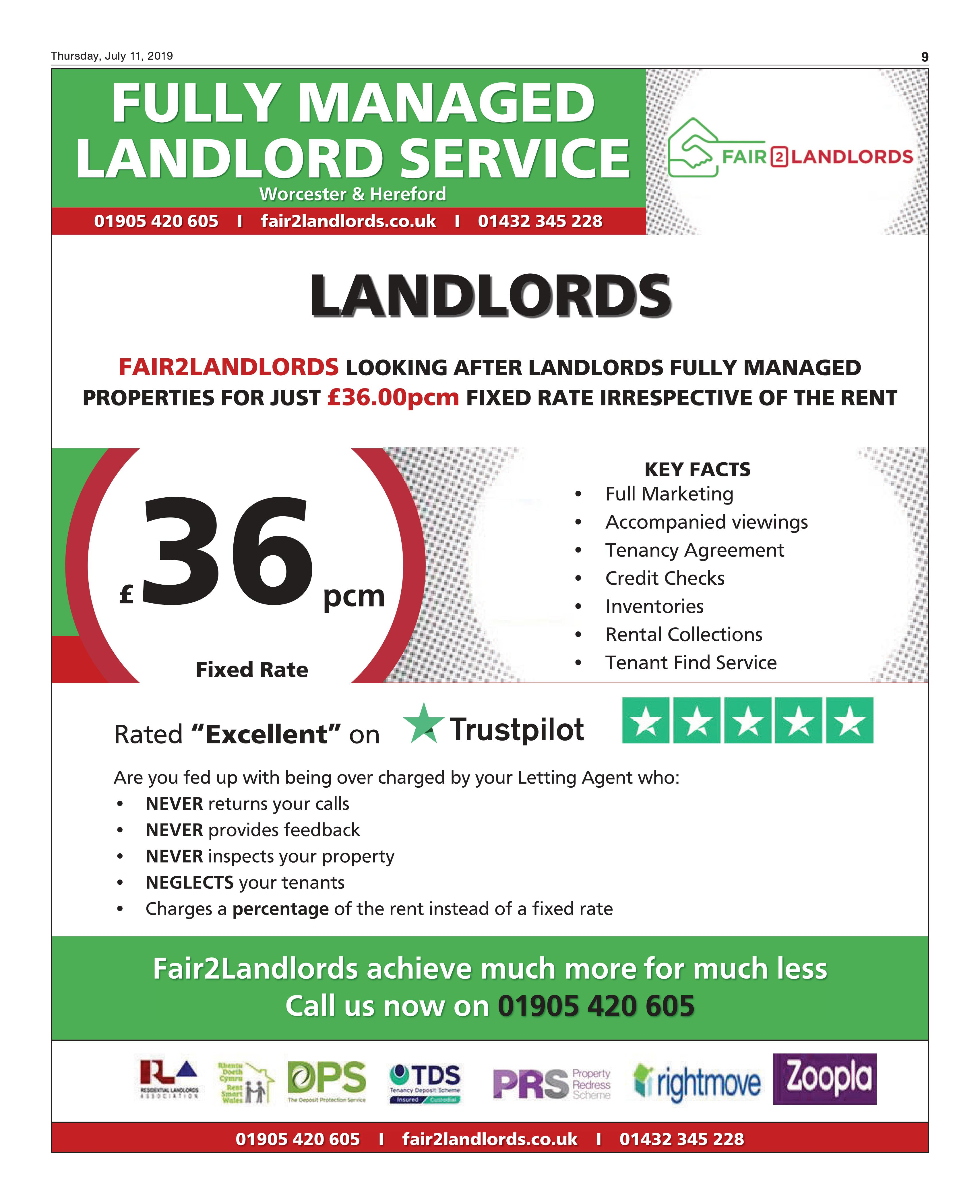 Fair2Landlords Looking after Landlords