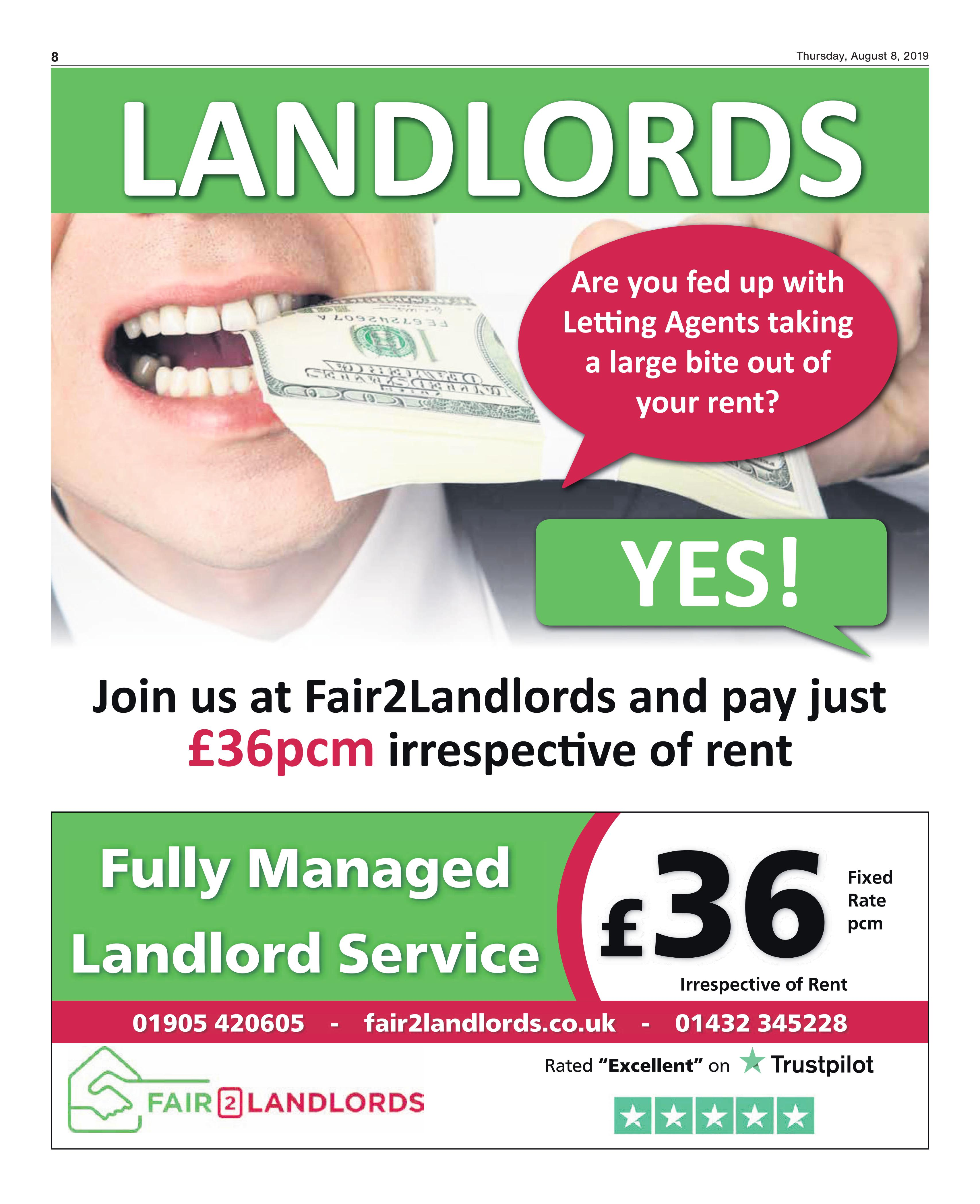 Landlords are you fed up with Letting Agents taking a large bite out of your rent
